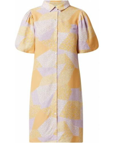 Żółta sukienka z wiskozy Moves