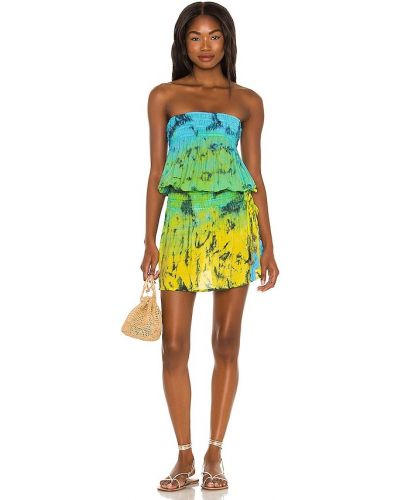 Платье мини с декольте - желтое Tiare Hawaii
