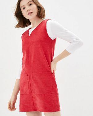Платье прямое красный Lilove