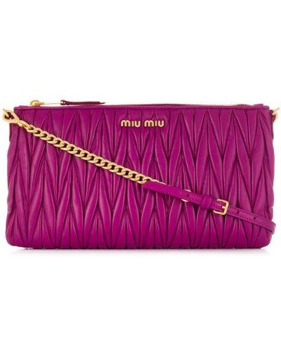 Сумка через плечо стеганая фиолетовый Miu Miu