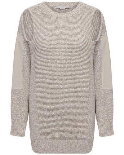 Хлопковый свитер - бежевый Stella Mccartney
