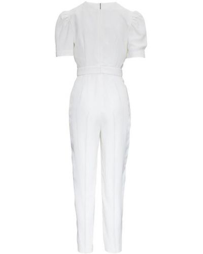 Biały garnitur slim elegancki krótki rękaw Msgm