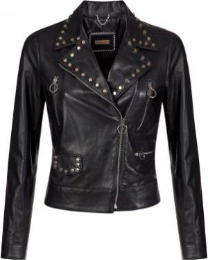 Кожаная куртка - черная Albano