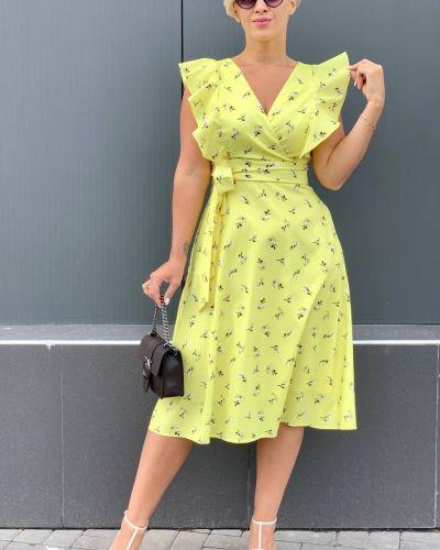 Платье с запахом - желтое Espiga