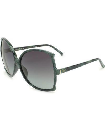 Зеленые солнцезащитные очки Linda Farrow