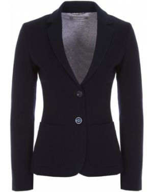 Синий пиджак с воротником с карманами на пуговицах Capobianco