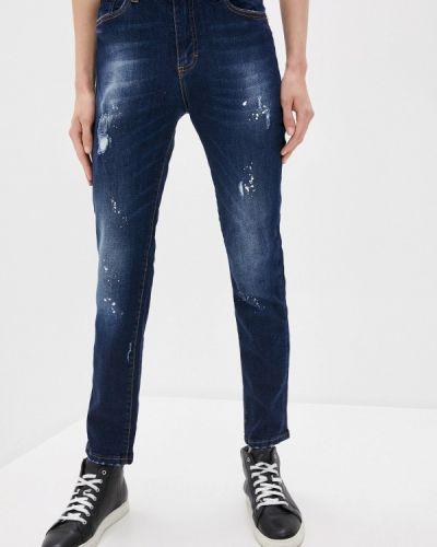 Синие джинсы-скинни узкого кроя John Richmond