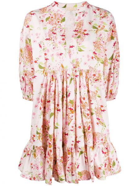 Платье с цветочным принтом платье-рубашка Bytimo