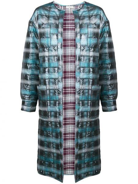 Синее длинное пальто с капюшоном свободного кроя Natasha Zinko