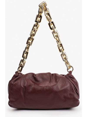 Кожаная сумка - красная Lamania