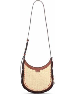 Маленькая сумка на плечо круглая Chloã©
