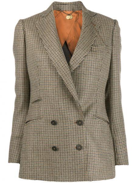 Шерстяная куртка с подкладкой двубортная узкого кроя Maurizio Miri