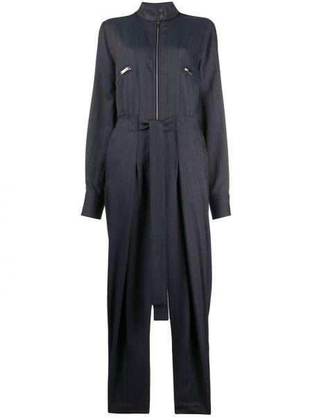 Хлопковый с рукавами черный джинсовый комбинезон Stella Mccartney