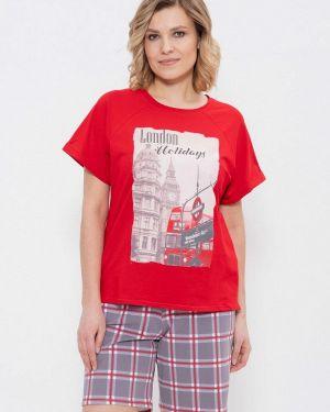 Домашний костюм красный Cleo