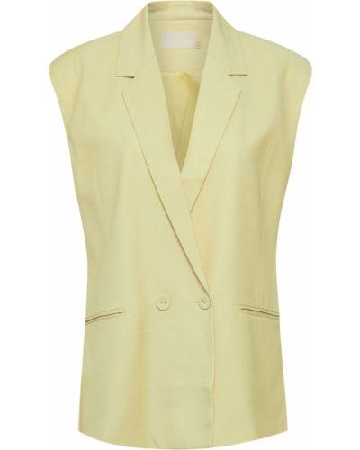 Żółta kamizelka elegancka oversize Karen By Simonsen