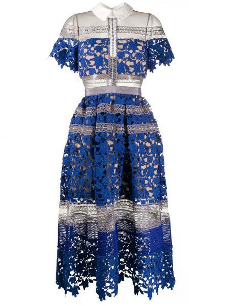Платье мини миди платье-рубашка Self-portrait