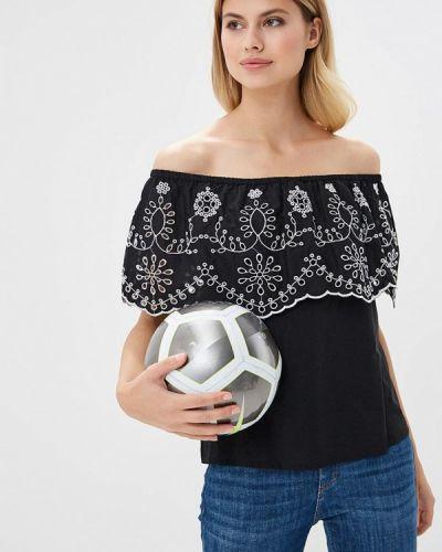 Черная блузка с открытыми плечами Ovs