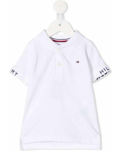 С рукавами белая рубашка с воротником Tommy Hilfiger Junior
