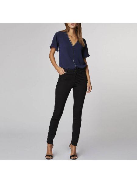 Блузка с V-образным вырезом с завязками Morgan