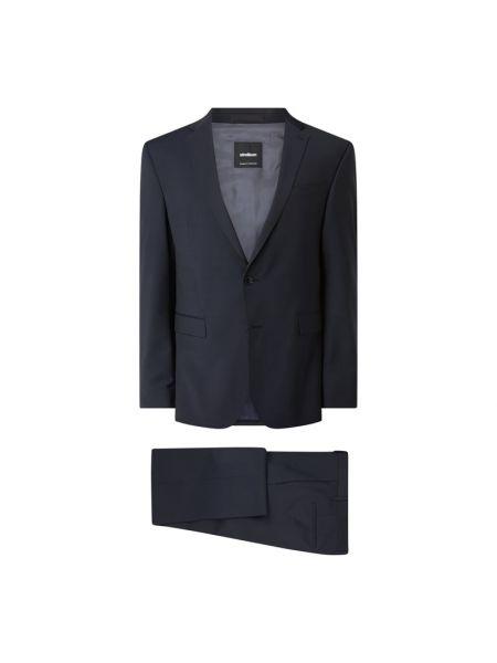 Czarny garnitur wełniany zapinane na guziki Strellson