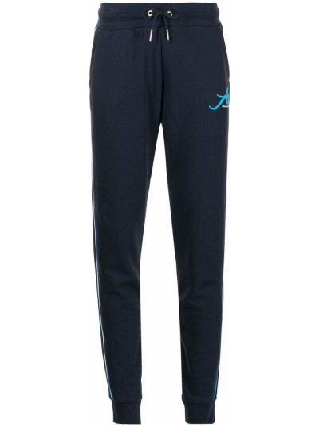 Хлопковые спортивные брюки на шнуровке в рубчик Armani Exchange