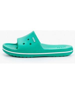 Сланцы пляжные зеленый Crocs