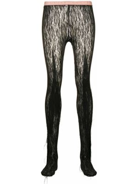 Rajstopy koronkowe - czarne Gucci