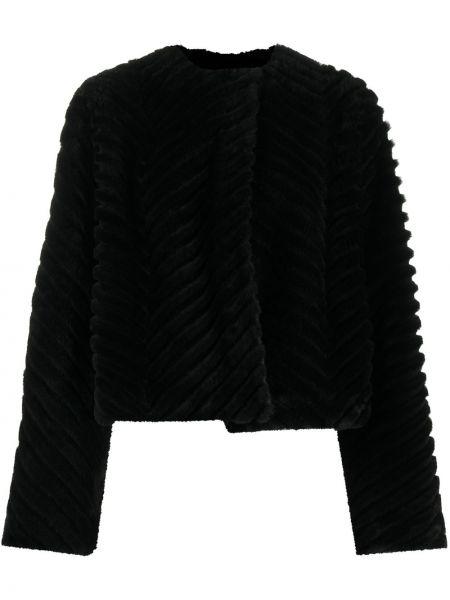 Z rękawami pikowana czarny długa kurtka okrągły Givenchy
