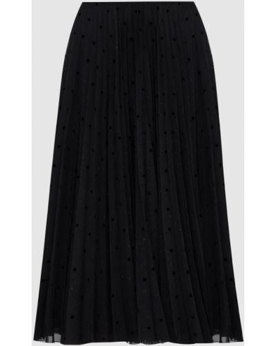 Черная юбка миди Prada