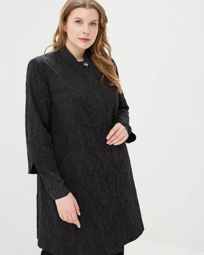 Черное пальто весеннее Kr