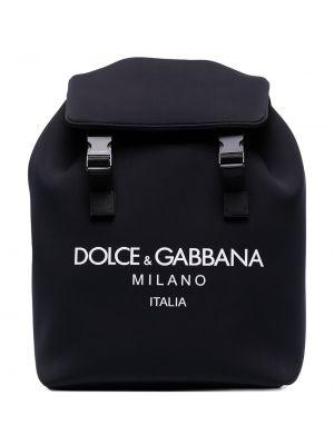 Czarny sport plecak klamry z nylonu Dolce And Gabbana