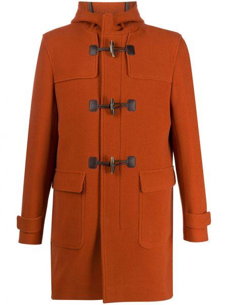 Klasyczny bawełna wełniany klasyczny płaszcz z kieszeniami Herno