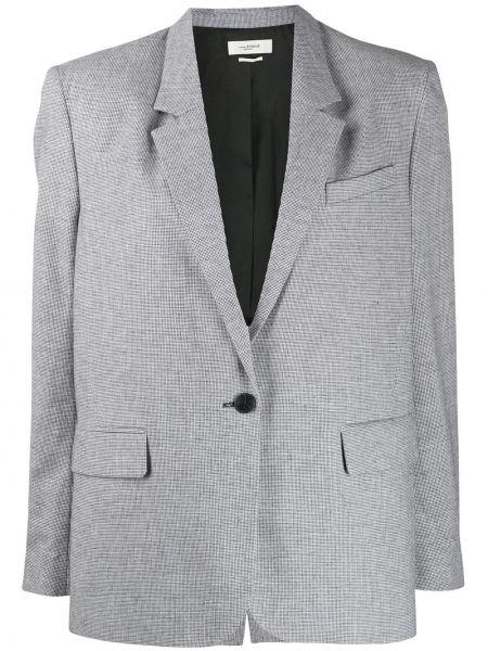 Черный удлиненный пиджак оверсайз с карманами Isabel Marant étoile