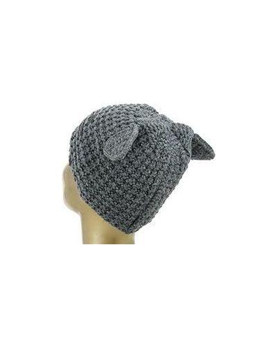 Серая шапка Karl Lagerfeld