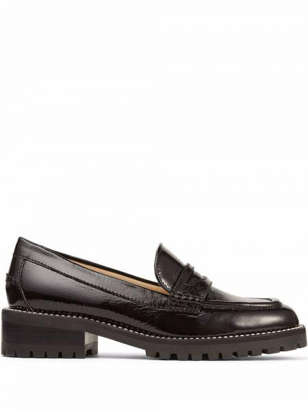 Loafers na obcasie - czarne Jimmy Choo