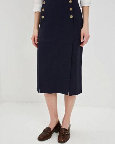 Синяя прямая юбка карандаш Polo Ralph Lauren