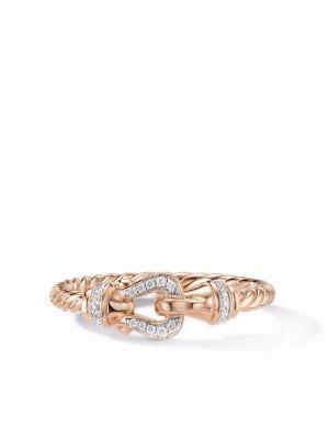 Różowy pierścionek z diamentem David Yurman
