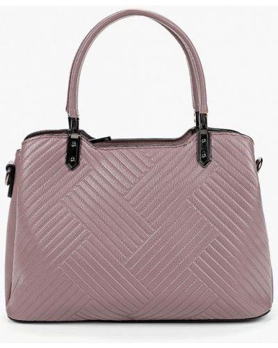 Кожаный сумка с ручками фиолетовый Fabretti