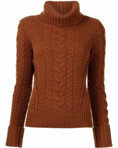 Оранжевый с рукавами кашемировый джемпер Veronica Beard