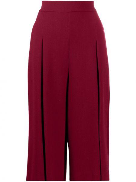 Шерстяные красные с завышенной талией шорты L'autre Chose