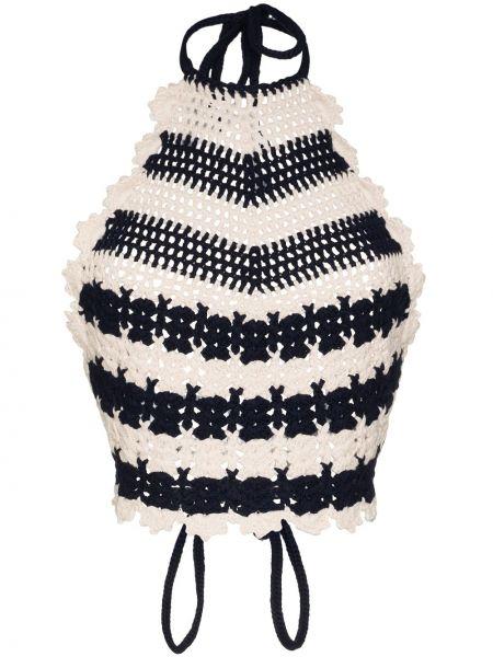 Шерстяной черный вязаный топ Gucci