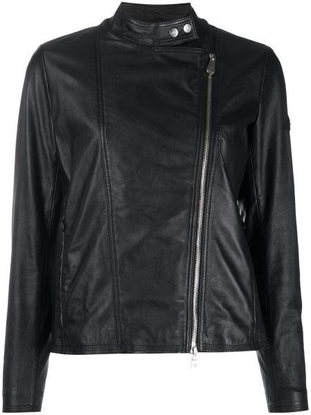 Куртка черная байкерская Peuterey