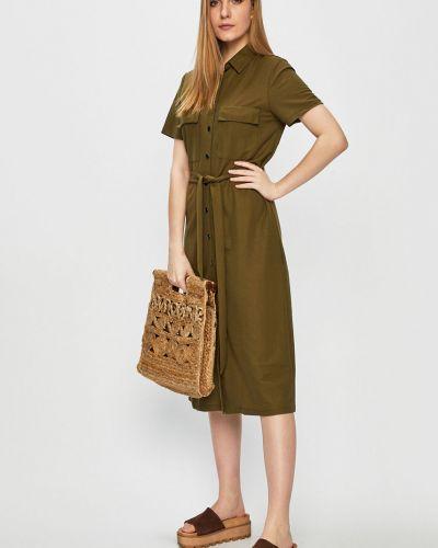 Платье мини из вискозы с карманами Vila