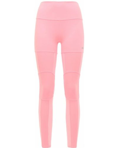 Różowe legginsy z wysokim stanem Alo Yoga