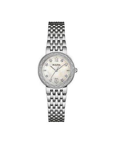 Кварцевые часы с бриллиантом Bulova