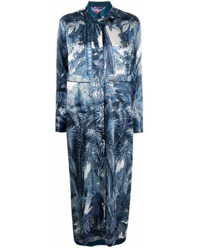 Шелковое белое платье макси с длинными рукавами F.r.s. For Restless Sleepers