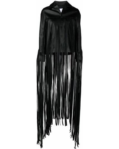 Черная кожаная куртка с подкладкой Natasha Zinko
