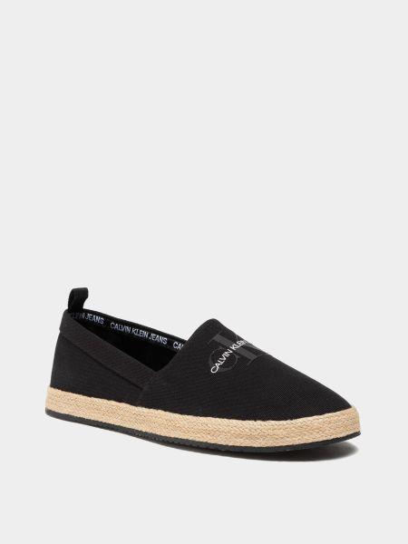 Эспадрильи - черные Calvin Klein
