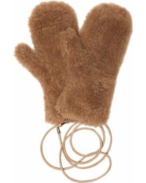 Brązowe rękawiczki wełniane Max Mara