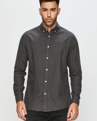 Szara koszula bawełniana z długimi rękawami Clean Cut Copenhagen
